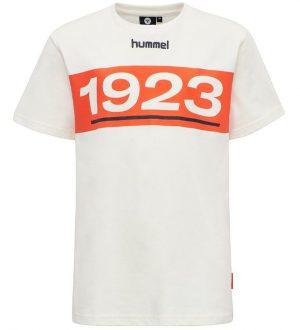 Hummel Teens T-shirt - HMLJasper - Cremehvid