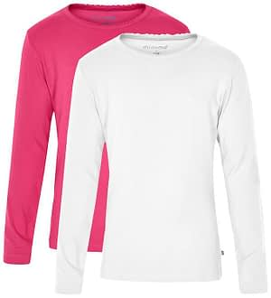 Minymo Bluse - 2-Pak - Pink/Creme