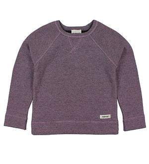 Papfar Bluse - Bomuld/Uld - Lavendel