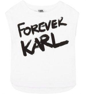 Karl Lagerfeld T-shirt - Masquarede Ball - Hvid m. Print