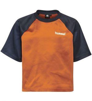 Hummel Teens T-shirt - HMLMelody - Navy/Brun