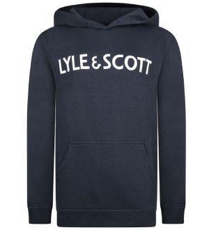 Lyle & Scott Hættetrøje - Navy Blazer m. Tekst