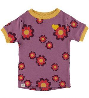 AlbaBaby T-shirt - Bella - Bordeaux Flower Power Love