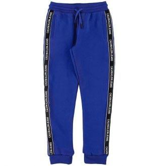 Calvin Klein Sweatpants - Blå m. Logostribe