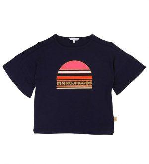 Little Marc Jacobs T-shirt - Navy m. Print/Glimmer