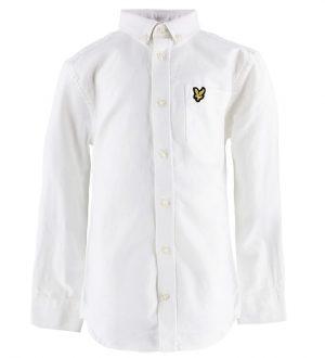 Lyle & Scott Junior Skjorte - Hvid m. Logo