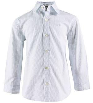 Calvin Klein Skjorte - Mini Print - Hvid m. Print