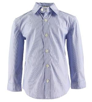 Calvin Klein Skjorte - Dobby - Blå m. Prikker