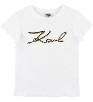 Karl Lagerfeld T-shirt - Hvid m. Perler