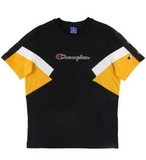Champion Fashion T-shirt - Sort m. Gul/Hvid