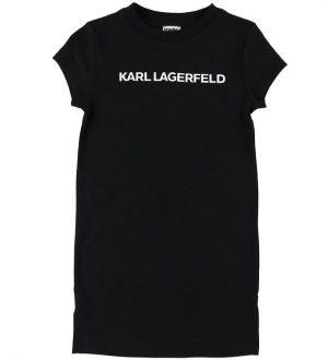 Karl Lagerfeld Kjole - Sort m. Logo