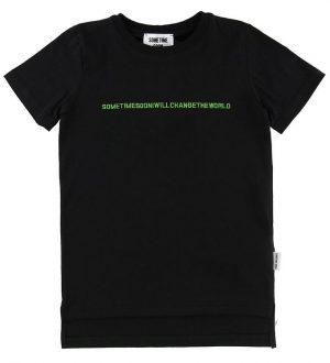 Sometime Soon T-shirt - Follow - Sort m. Neon Skrift