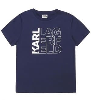 Karl Lagerfeld T-shirt - Navy m. Logo