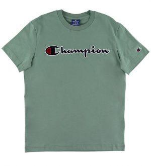 Champion Fashion T-shirt - Støvet Grøn m. Logo