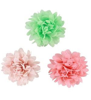 Creamie Hårspænder - 3-pak - 7 cm - Rosa/Koral/Mint