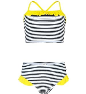 Mads Nørgaard Bikini - Bikinina - Hvid/Sortstribet m. Flæse