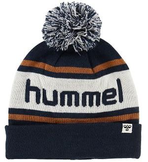 Hummel Hue m. Kvast - Town - Navy/Hvid/Brun m. Logo
