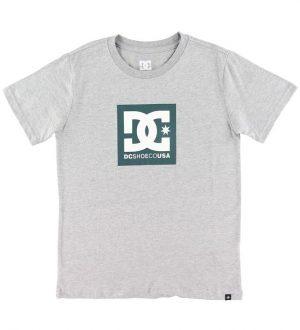 DC T-shirt - Square Star - Gråmeleret m. Logo