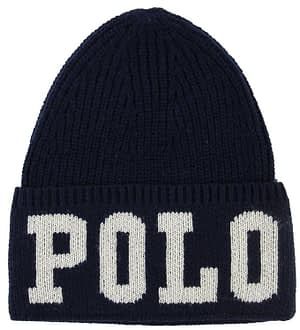 Polo Ralph Lauren Hue - Akryl/Uld - Navy m. Tekst