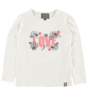 Creamie Bluse - Creme m. Blomster