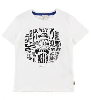 Paul Smith Junior T-shirt - Vabrino - Hvid m. Print