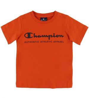 Champion T-shirt - Orange m. Logo