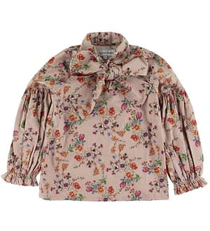 Christina Rohde Bluse - Rosa m. Blomster