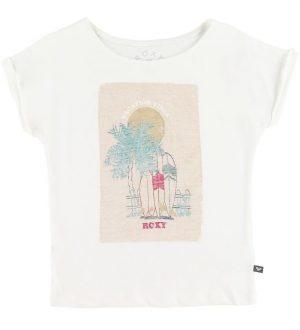 Roxy T-shirt - Creme m. Surf