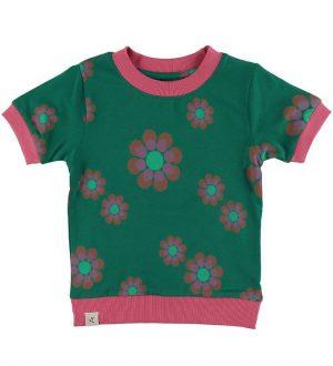 AlbaBaby T-shirt - Vesta - Alpine Green Flower Power Love