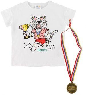 Kenzo T-shirt - Exclusive Edition - Hvid/Rosa m. Medalje