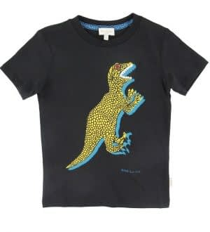 Paul Smith Junior T-shirt - Ben - Sort m. Dinosaur