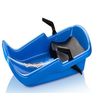 Cyklon Bobslæde / Kælk med håndbremser og sæde, Blå