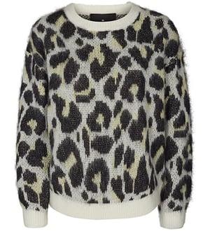 Designers Remix Bluse - Akryl/Uld - Vicki - Leopard