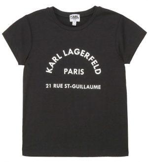 Karl Lagerfeld T-shirt - Rue St-Guillaume - Sort