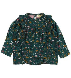 Soft Gallery Bluse - Bette - Deep Teal Fungi