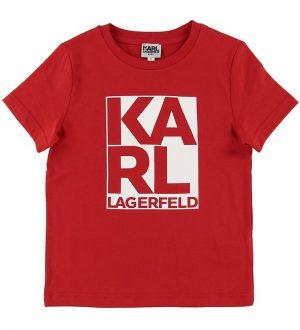 Karl Lagerfeld T-shirt - Rød/Hvid m. Print
