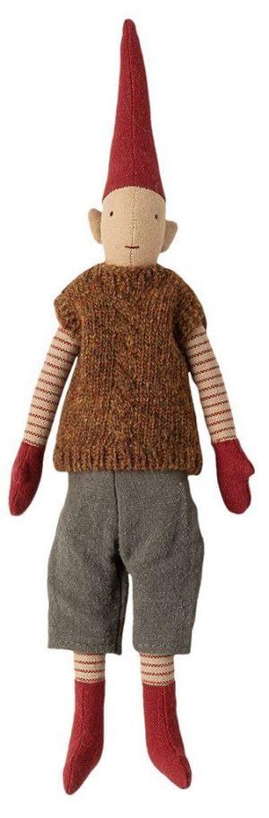 Mini Pixy Julenisse - Dreng - Brun Vest (31 cm.) - 2020 kollektion
