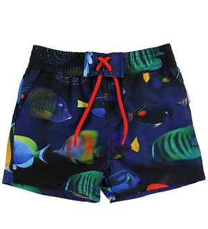 Paul Smith Junior Badeshorts - Toshiro - Navy m. Fisk