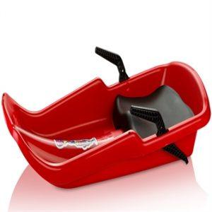 Cyklon Bobslæde / Kælk med håndbremser og sæde, Rød