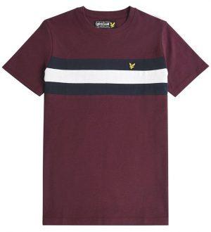 Lyle & Scott T-shirt - Winetasting m. Striber