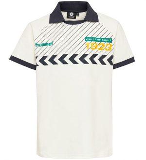 Hummel Teens T-shirt - HMLSamuel - Hvid/Navy m. Vinkler/Print
