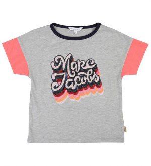 Little Marc Jacobs T-shirt - Gråmeleret m. Pailletter