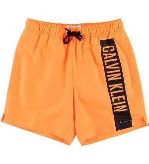 Calvin Klein Badeshorts - Neon Orange m. Logo