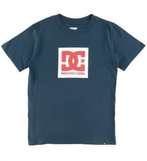 DC T-shirt - Square Star - Navy m. Logo