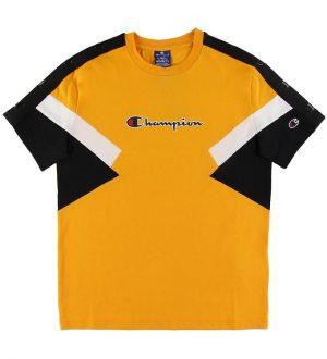 Champion Fashion T-shirt - Gul m. Sort/Hvid