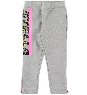 Stella McCartney Kids Sweatpants - Gråmeleret m. Pink Camouflage
