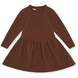 Konges Sløjd kjole i merinould, Ballerina - Toffee