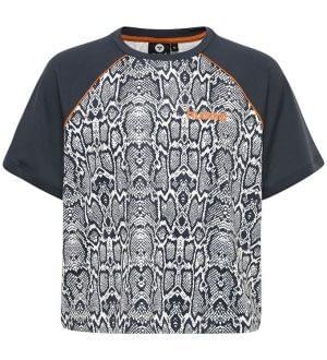 Hummel Teens T-shirt - HMLSnake - Hvid/Navy Slange