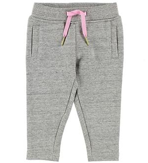 Little Marc Jacobs Sweatpants - Gråmeleret m. Pink