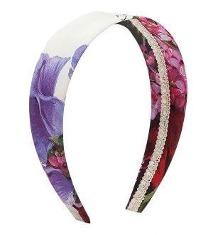 Dolce & Gabbana Hårbånd - Hvid m. Blomster
